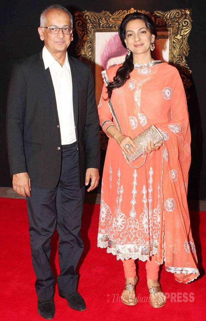 <b>Juhi Chawla - Jai Mehta</b>: The couple denied any romantic involvement and maintained that they were 'just friends' for a long time. Finally, Juhi Chawla married the industrialist in a simple ceremony in 2001.