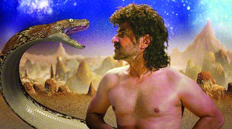 It took one day for Sanjay Kapoor to shoot for a scene which showed him fighting a python