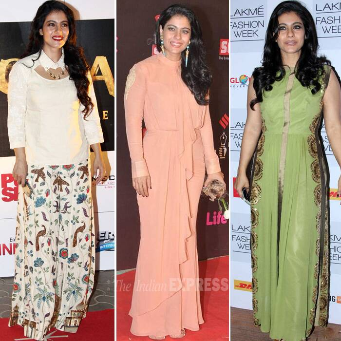 Bollywood's critially acclaimed actress Kajol many not be back on the silver screen in full swing but she is in news for being the new fashionista on the block. The actress, who was always appreciated for her acting abilities, is now getting a thumbs form the fashion police at various events. We bring to you the style file of Bollywood's stylish yummy mummy Kajol!
