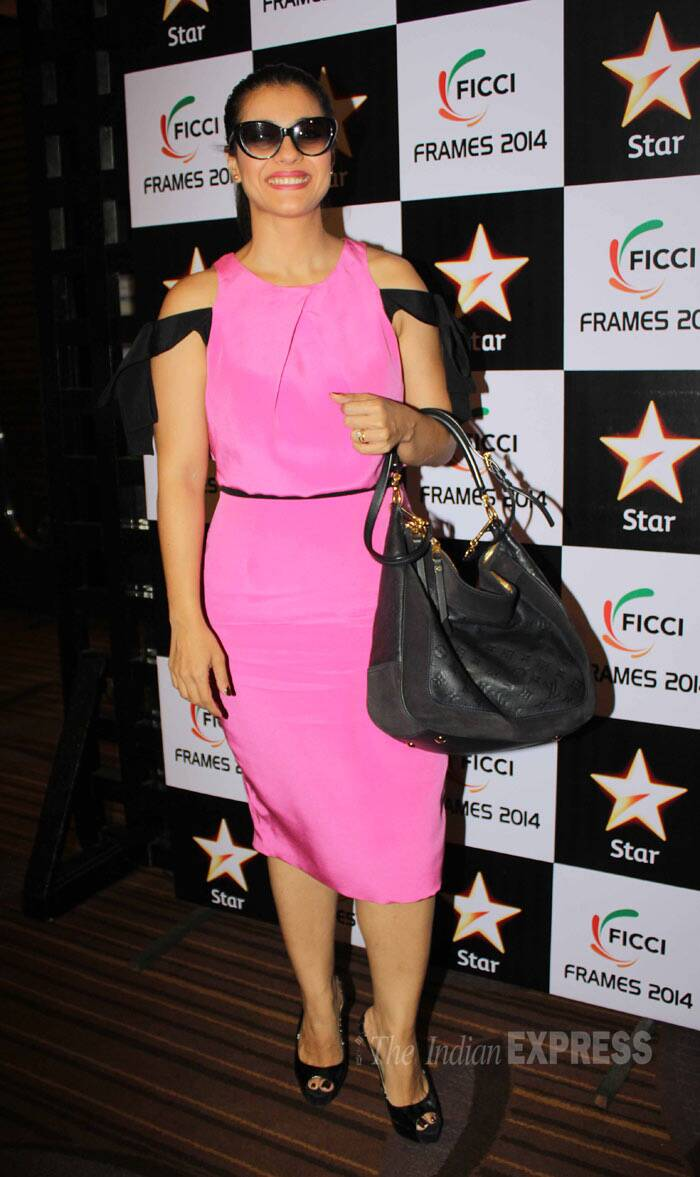 At a FICCI event, Kajol was a stunner in the pink Prabal Gurung dress. (PTI)