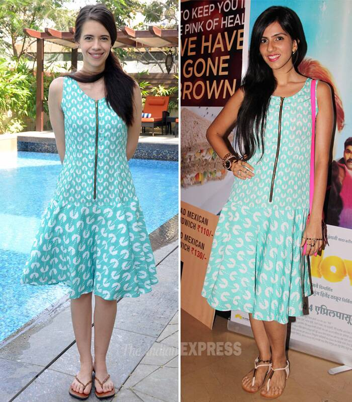 Recently, Kalki Koechlin was spotted wearing this Yogesh Chaudhary summer dress to a brunch party recently. Few days later designer Nishka Lulla wore the same printed dress to the screening of Yellow.