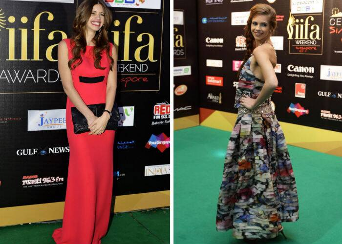 For the 2012 IIFA Awards in Singapore, Kalki Koechlin looked great in a red and black Victoria Beckham gown. The actress picked a printed Chanel dress for the IIFA Rocks that year.