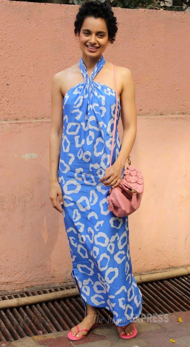 'Revolver Rani' Kangana Ranuat is breezy in blue