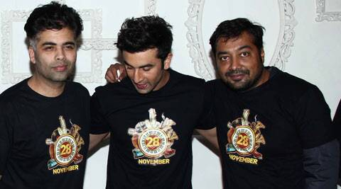 """It was great to be directed by Anurag. My work was mostly with Ranbir Kapoor... so he is my favourite co-star and my director Anurag, Phantom Films and Fox Star Studio... thankful... I don't have choice,"" Karan said at the wrap up party of 'Bombay Velvet'."