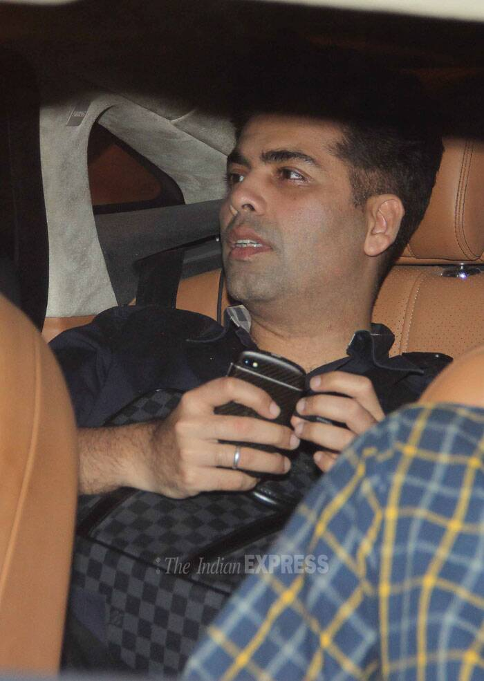 'Koffee With Karan' host, Karan Johar was also spotted. (Photo: Varinder Chawla)