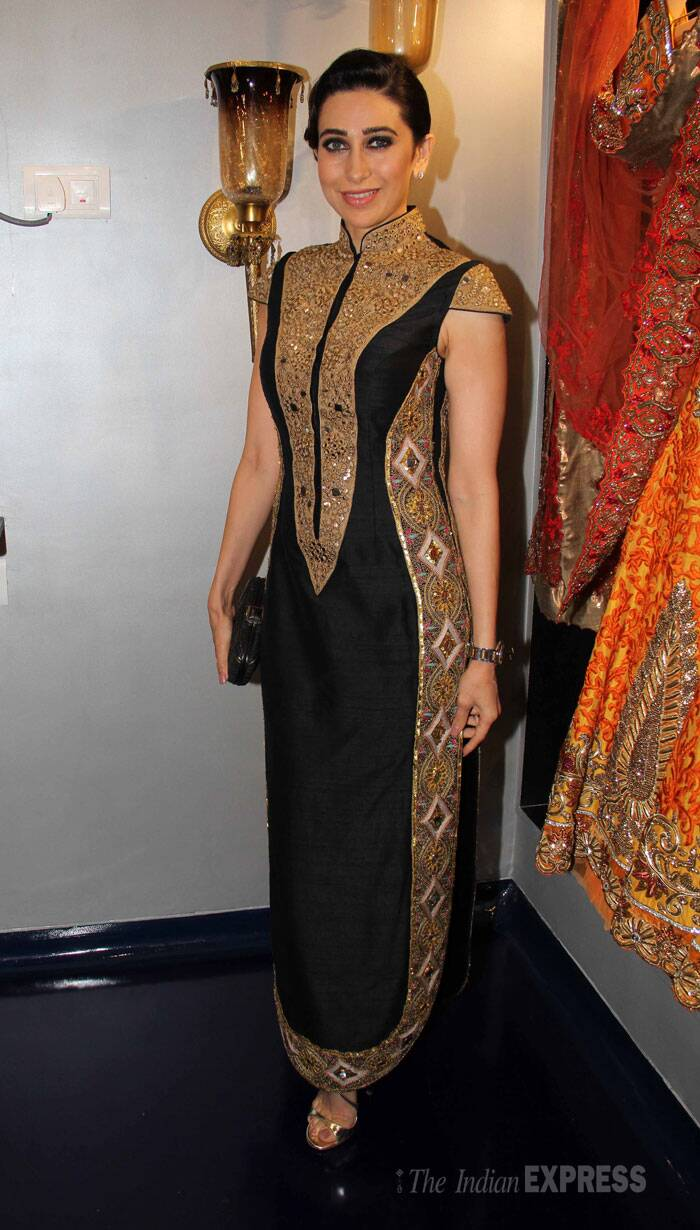 Karisma looked stunning as she sported the designer's creations at the event. (Photo: Varinder Chawla)
