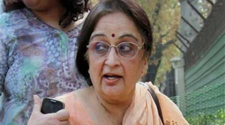 Nitish Katara's mother Neelam Katara comes out of High Court after vardict on Wednesday. (PTI)