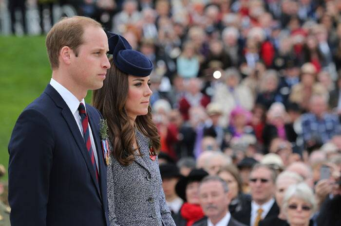 The memorial that Prince William and Kate Middleton attended in Canberra was on the last day of their tour. (AP)