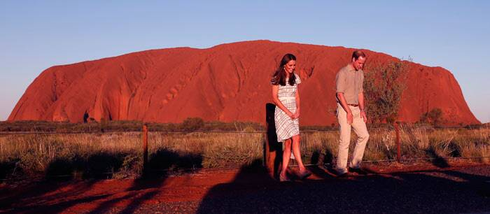 Kate, Prince William visit the Australian outback