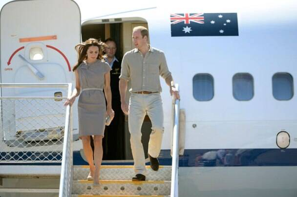 Kate, William colour code their outfits in Australia