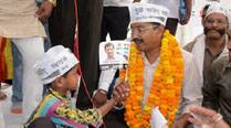 Kejriwal at a public meeting