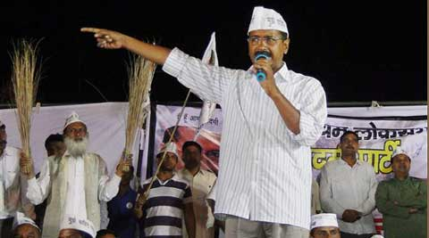 Kejriwal alleged if BJP is voted to power then farmers land will be given to Adanis as was done in Gujarat.