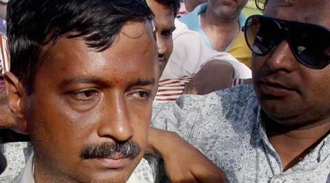 AAP convener Arvind Kejriwal was slapped by an autorickshaw driver in an election road show in New Delhi on Tuesday. (PTI Photo)