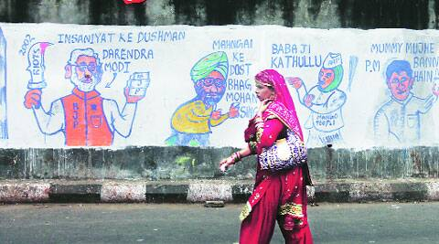 A TMC graffiti in Kolkata. Partha Paul