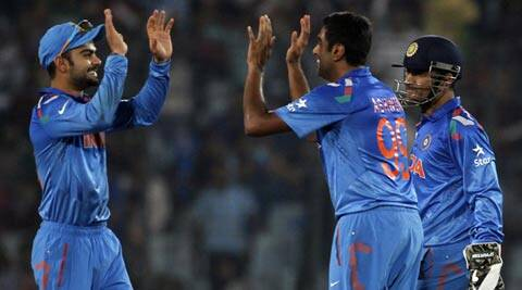Virat Kohli, Ashwin and skipper Mahendra Singh Dhoni are the three Indians the ICC World T20 team (Reuters)