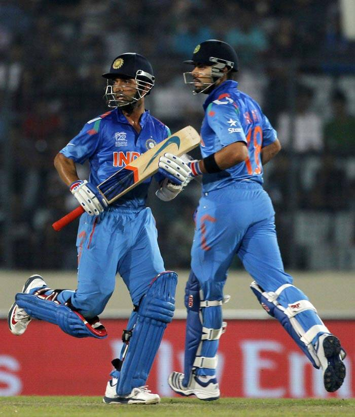 Chasing a competitive target of 173, India completed the task with five balls to spare to reach their second World T20 final. The reigning ODI world champion will lock horns with Sri Lanka in the title clash on Sunday (Reuters)