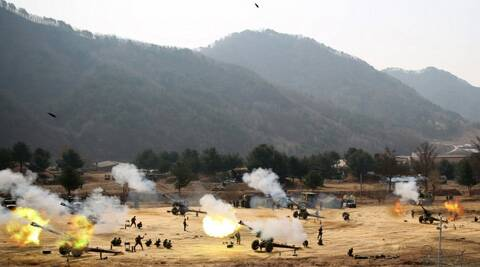South Korean officials said they suspect that an unmanned drone that crashed on a frontline South Korean island was flown by rival North Korea. (Reuters)