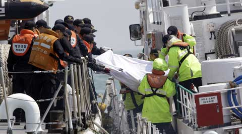 Thirteen bodies have been found in the ship, while six other bodies were found floating outside. (AP Photo)