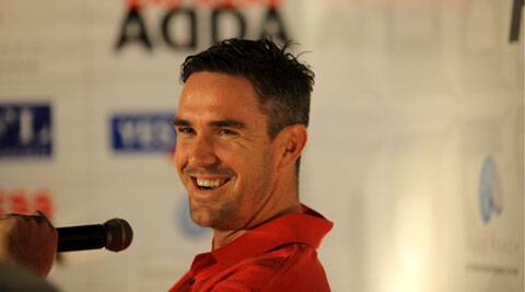 Kevin Pietersen at the Express Adda in New Delhi on Tuesday. Ravi Kanojia