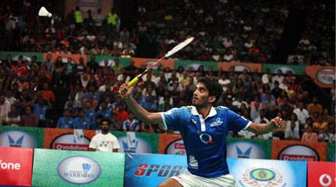 K Srikanth beat Tien Minh 18-21, 21-15, 21-8 in the Singapore Open. (IE Photo)