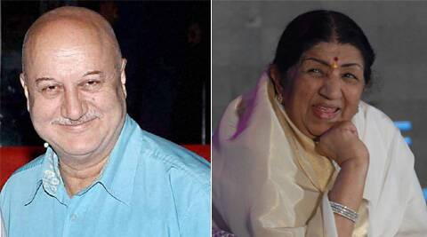 Anupam Kher congratulated the lyricist by tweeting his Oscar-winning song 'Jai Ho'.
