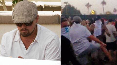A man, in similar clothes that DiCaprio was spotted wearing, is seen busting some wild moves with the crowd at Coachella Festival to popular tune Kids, reported Daily Mirror.