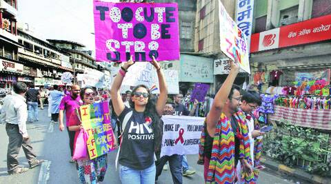 An LGBT rally in the city. (Express archive)