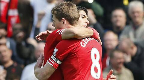 Captain Steven Gerrad and Luis Saurez will look to improve Liverpool's poor record against Chelsea. (Reuters)