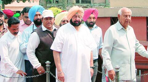 Amarinder at Jallianwala Bagh on Sunday.express archive