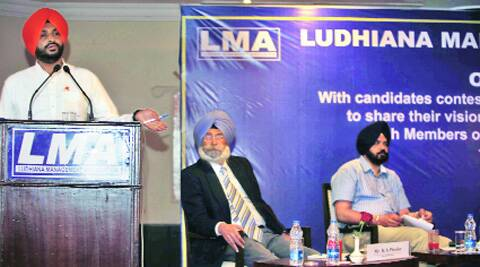 At the interaction organised by the Ludhiana Management Association on Thursday. (Photo: Gurmeet Singh)