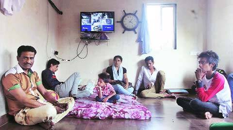 Shahbaz and his family at his home. (IE Photo: Prashant Nadkar)