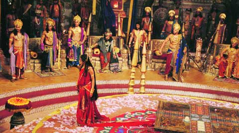 A still from the cheer haran sequence in Mahabharat