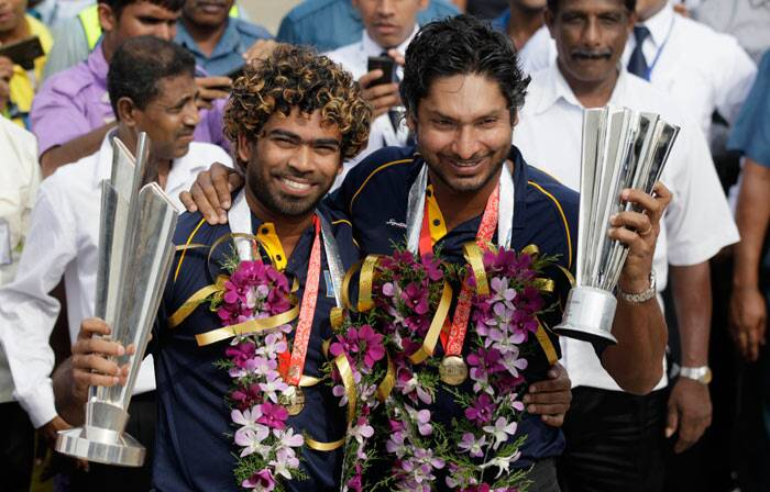 Hero of the final against India and now a retiree from T20 Internationals, Kumar Sangakkara captured the hysteria in his camera from the aircraft and posted the picture on twitter. (AP)