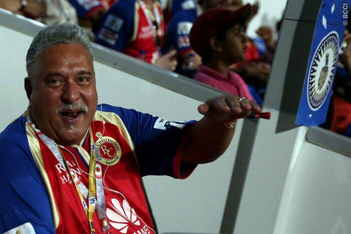 Owner Vijay Mallya was a happy man in the stands as his team outclassed their opposition in all departments of the game (Photo: BCCI/IPL)