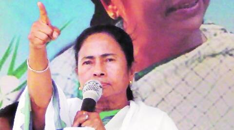 Mamata in Murshidabad on Sunday.  (PTI )