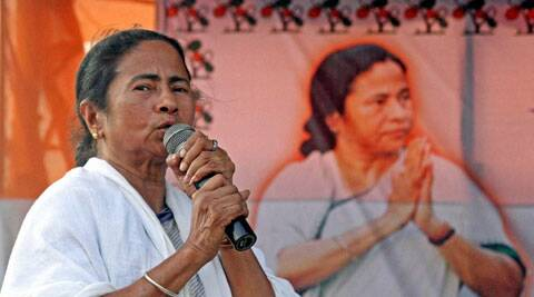 West Bengal Chief Minister Mamata Banerjee addressing an election campaign meeting  in Birbhum district of West Bengal on Friday. (Photo: PTI)