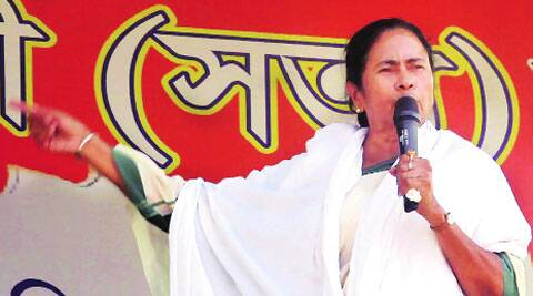 CM Mamata Banerjee at an election rally in North Dinajpur, Friday. (PTI)