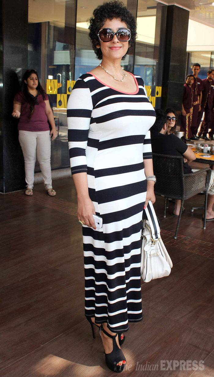 "Manisha Koirala, who was diagnosed with ovarian cancer in late 2012, has emerged a winner against her battle with cancer. She looked lovely in a monochrome maxi and heels. <br /><br /> ""I was fortunate to have people around me who helped me and were there with me emotionally,"" she said talking about her illness. (Photo: Varinder Chawla)"