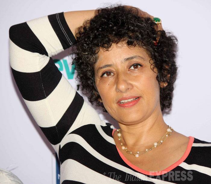"Manisha Koirala also opened up about the fear that the cancer will return. ""It (cancer) made me realise health is important, eating right is important, exercise is required. There is a fear that it (cancer) can come back anytime. But one must be positive,"" she told reporters. (Photo: Varinder Chawla)"