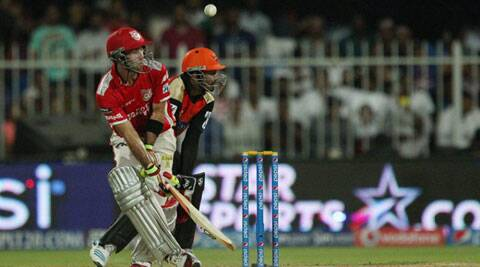 Glenn Maxwell fell five short of his hundred against Sunrisers Hyderabad, the second such instance in IPL 7 (Photo: BCCI/IPL)