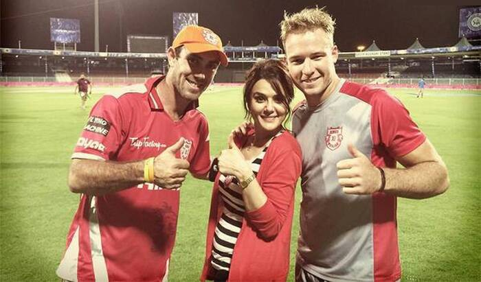 "Preity also tweeted, ""Thanks2 Balaji 4his awesome last over & 2all the bowlers4 the 50dot balls. Every player chipped in & made sure that R smiles never left us. Last but not the least a big THANK U 2 all the #KXIP fans 4 all the support inside & outside the stadium. Love u all ... YE Ha ! :-) Ting !"" (Photo courtesy: Twitter @PervertIND)<br /><br />Ahead:  IPL 7: Gauri Khan with SRK at gala dinner"