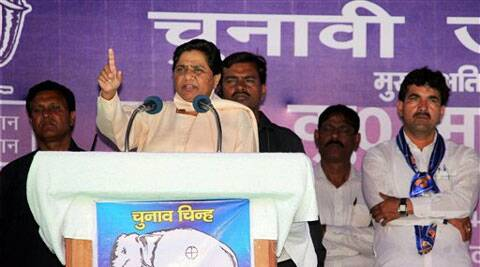 "Mayawati attacked BJP and Congress for ""double crossing"" the common man by serving the interests of capitalists. (PTI)"