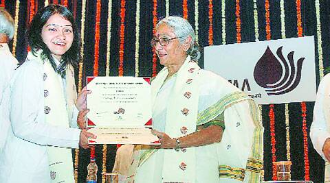 Social activist Aruna Roy confers degrees on IRMA students at its 33rd annual convocation, in Anand on Wednesday. Express