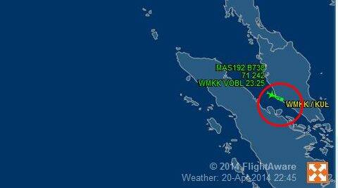 MH192 was headed for Bangalore