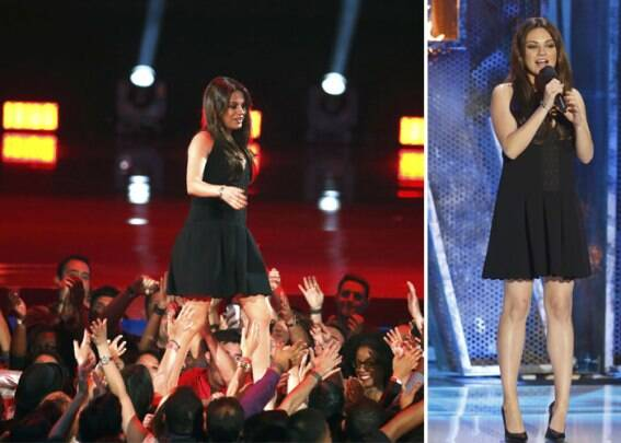 MTV Movie Awards 2014 top moments: Zac Efron's stripping act, Mila Kunis' baby bump