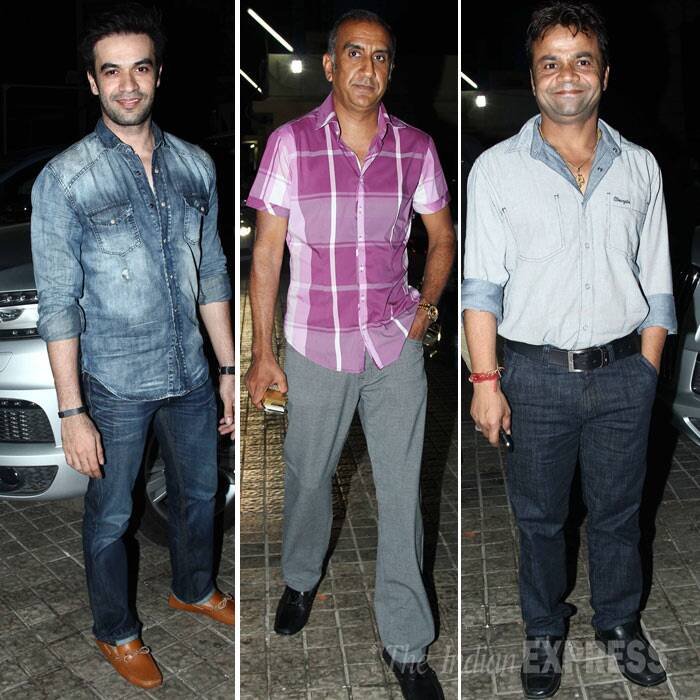 Directors Punit Malhotra, Milan Luthria and funnyman Rajpal Yadav also made it to the screening. (Photo: Varinder Chawla)