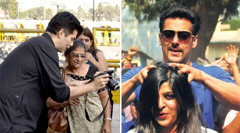 Salman Khan will turn barber for a day, filmmaker Karan Johar will turn photographer.