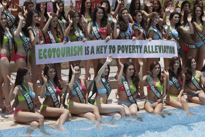 The focus of this year's competition is on ecotourism as it aims to raise awareness on various environmental issues, according to organizers. (Reuters)