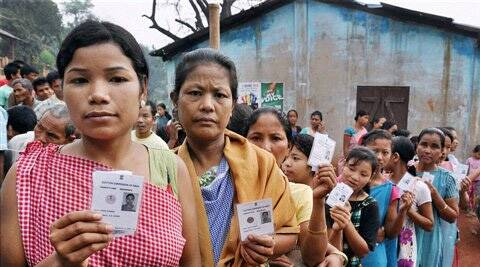 An electorate of 7,02,189, of whom 3,55,954 are women are eligible to cast votes in 1,126 polling stations. (PTI)