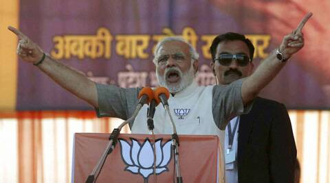 Narendra Modi accused the Congress of being against bringing black money stashed in foreign banks  and said if they came to power they will bring back every single paise. (PTI)